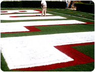 Football Field End zone Letter Stencils Paint