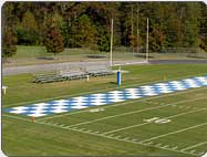 white football field marking paint