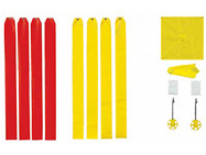 wind directional markers football goal posts
