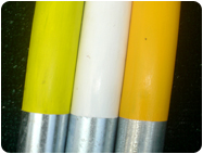 White Yellow Neon goal post paint