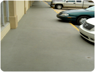 concrete gray coating protects and beautifies.