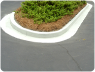 concrete gray stains for old curbs