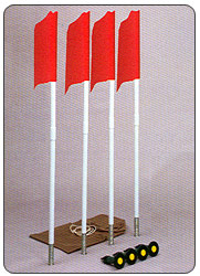 Soccer Corner Flags Markers Gound Sockets Kit