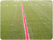 Temporary aerosol Chalk synthetic turf inlaid lines