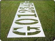 Football field number stencil kit