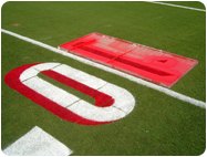 Custom number stencils football field marking paints
