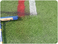 Temporary and Removable Paints for Synthetic Field Turf